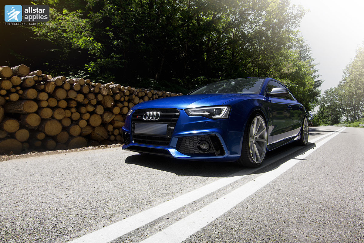 Audi s5 μεμβράνες αλλαγής χρώματος αυτοκινήτου Thessaloniki Allstar Applies