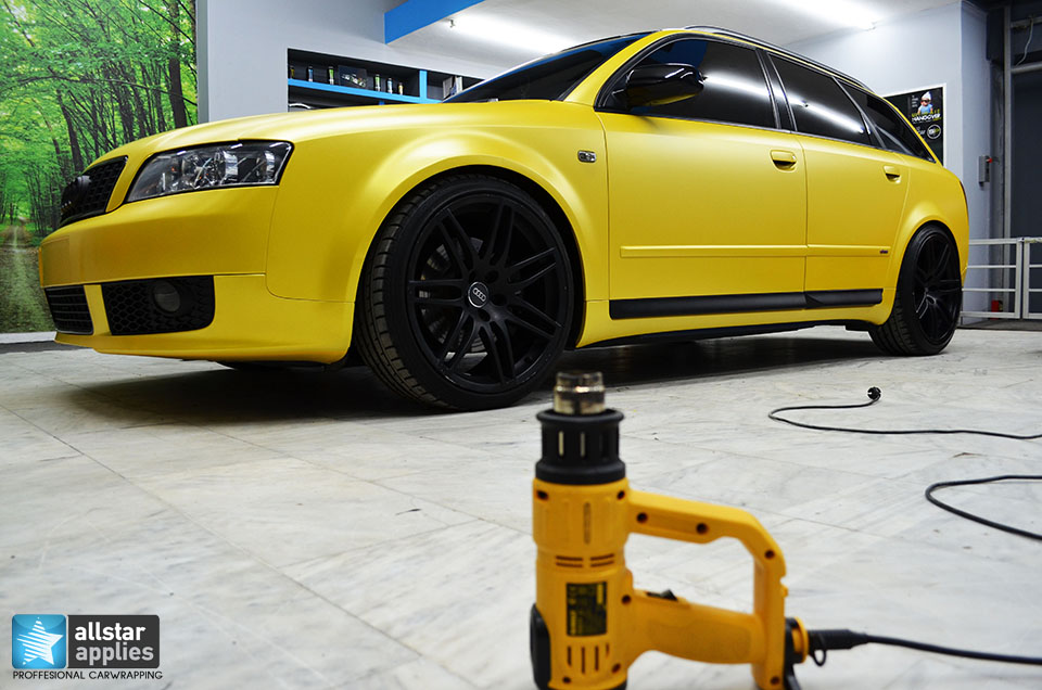 Audi Α4-Sunflower Yellow Metallic Matte (1)