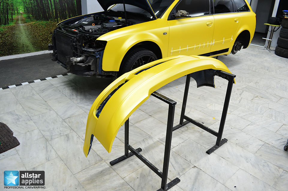 Audi Α4-Sunflower Yellow Metallic Matte (10)