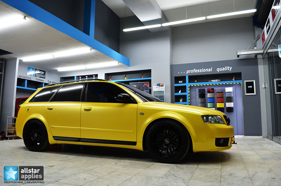 Audi Α4-Sunflower Yellow Metallic Matte (12)