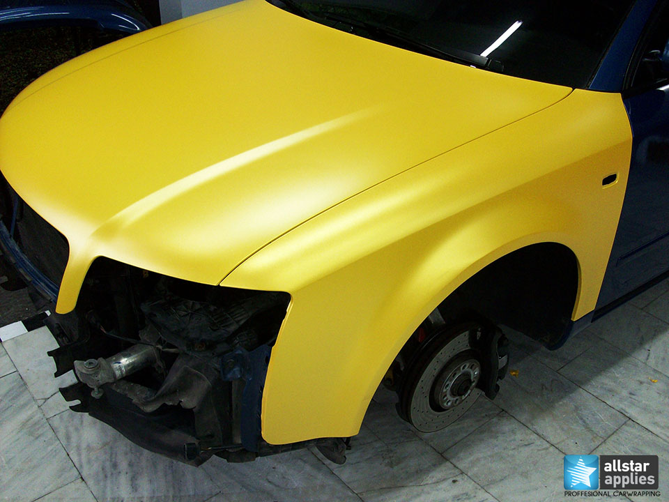 Audi Α4-Sunflower Yellow Metallic Matte (13)