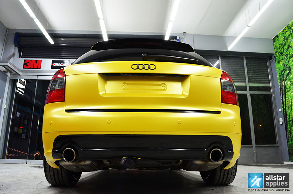 Audi Α4-Sunflower Yellow Metallic Matte (2)
