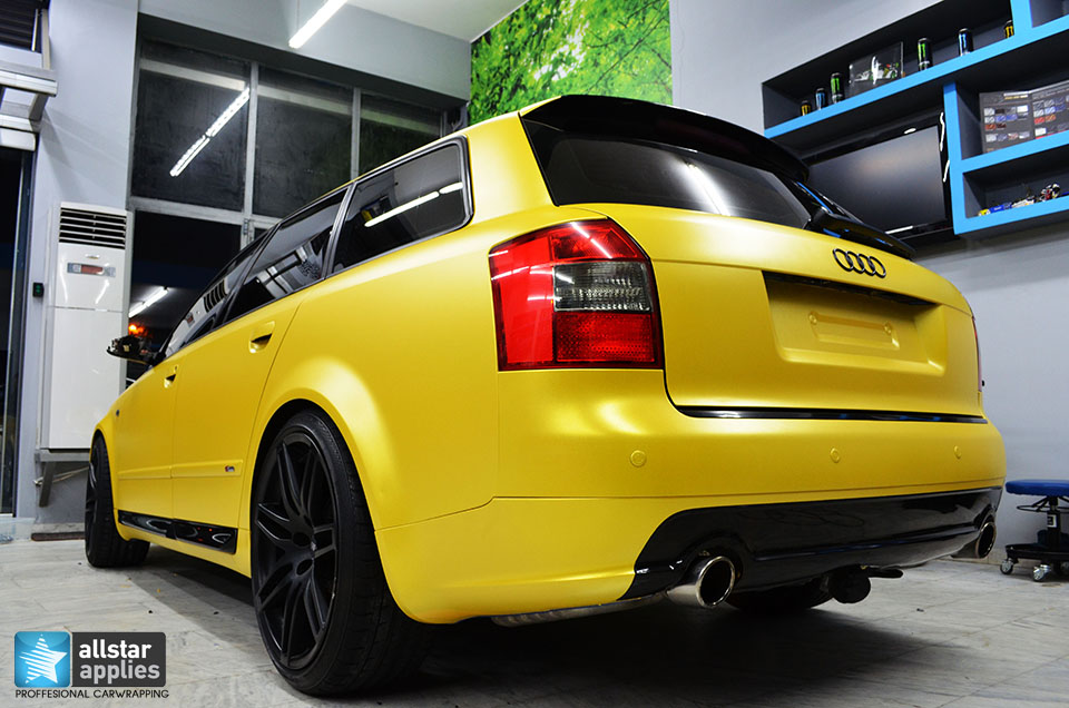 Audi Α4-Sunflower Yellow Metallic Matte (3)