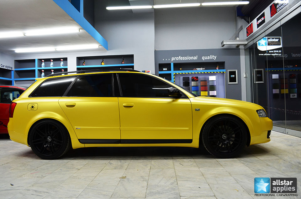 Audi Α4-Sunflower Yellow Metallic Matte (4)