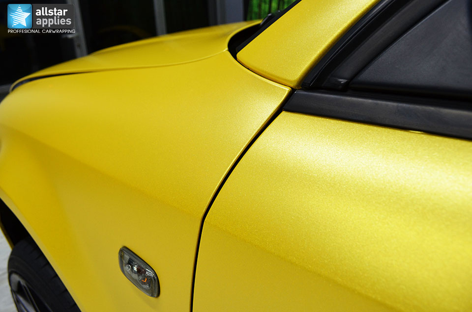Audi Α4-Sunflower Yellow Metallic Matte (5)