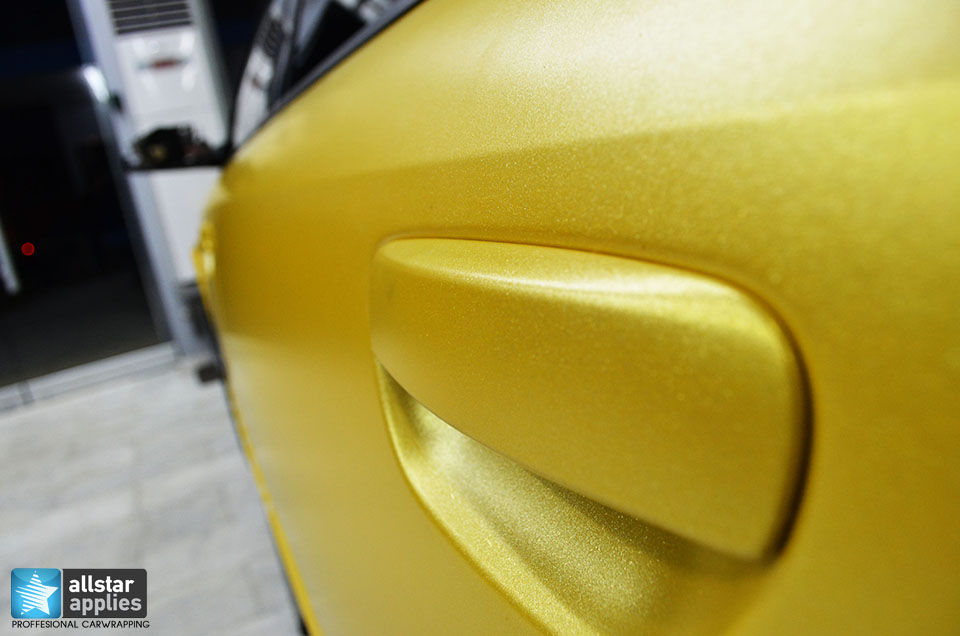 Audi Α4-Sunflower Yellow Metallic Matte (7)