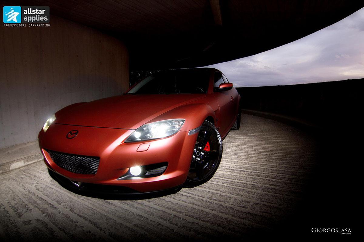 Mazda RX8 - Red Aluminium Matte (11)