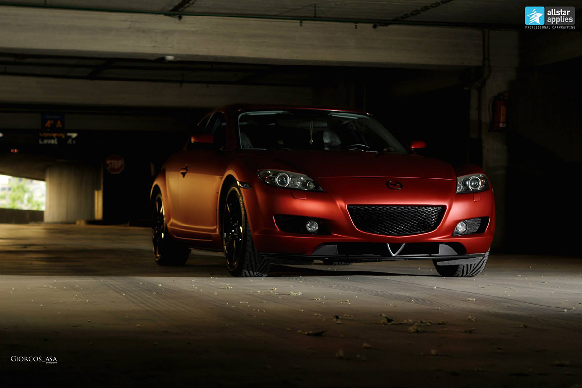 Mazda RX8 - Red Aluminium Matte (5)