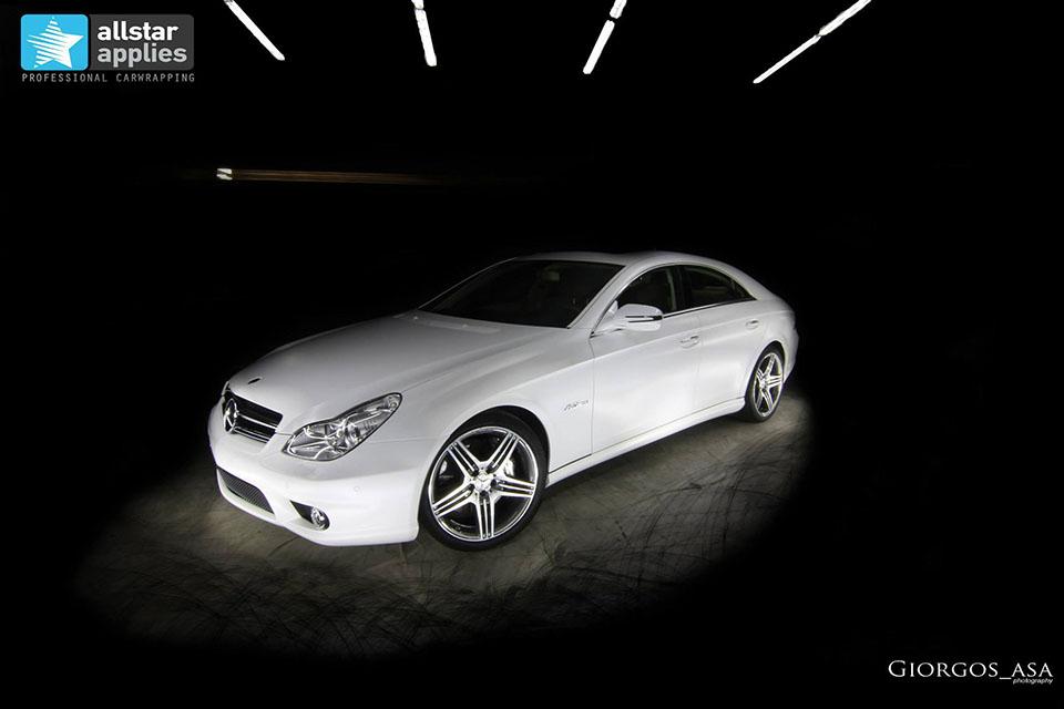 Mercedes CLS 63 AMG - White Satin Matte (3)