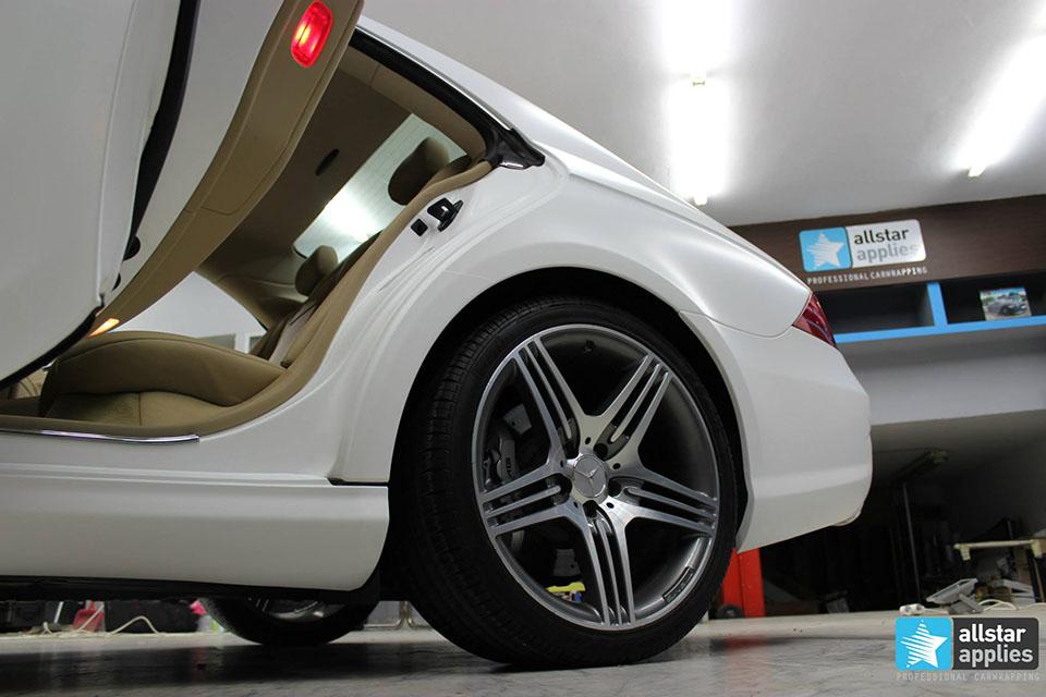 Mercedes CLS 63 AMG - White Satin Matte (9)