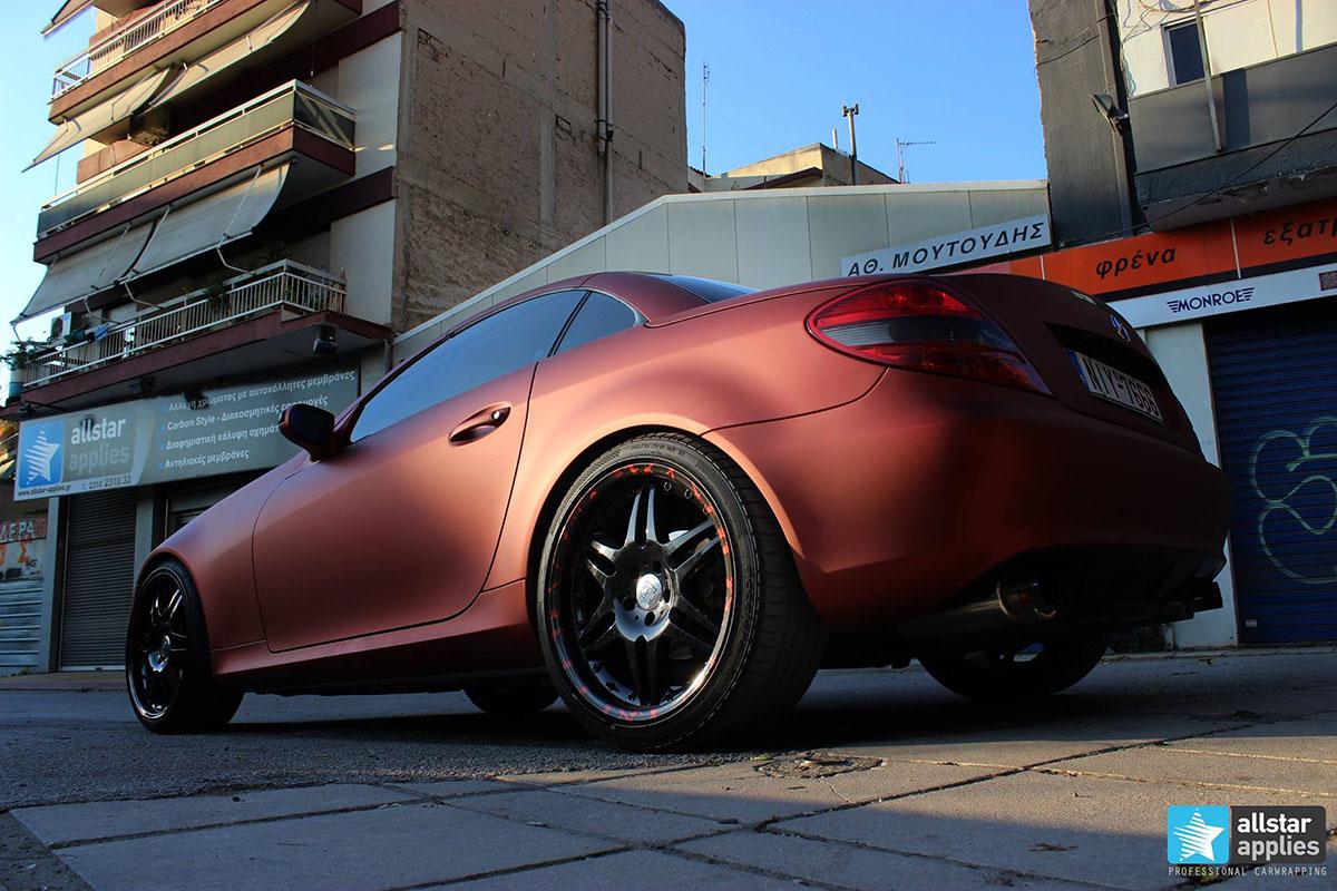 Mercedes SLK - Red Aluminium Matte (10)