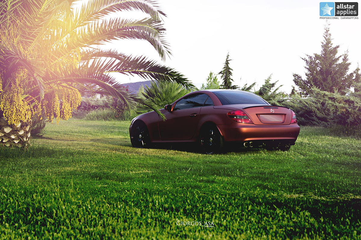Mercedes SLK - Red Aluminium Matte (11)