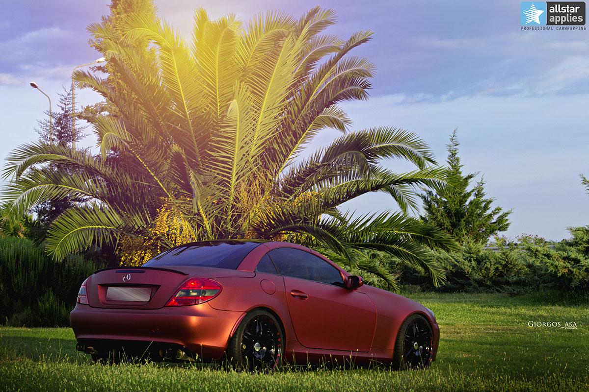 Mercedes SLK - Red Aluminium Matte (12)