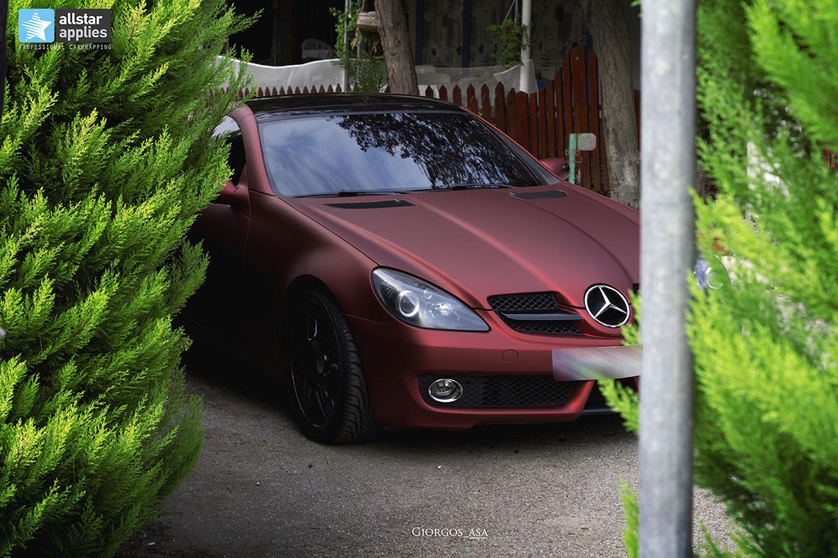 Mercedes SLK - Red Aluminium Matte (2)