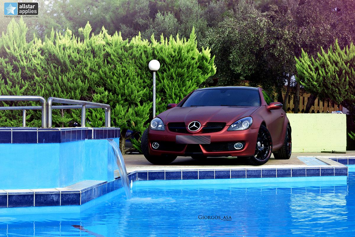 Mercedes SLK - Red Aluminium Matte (4)