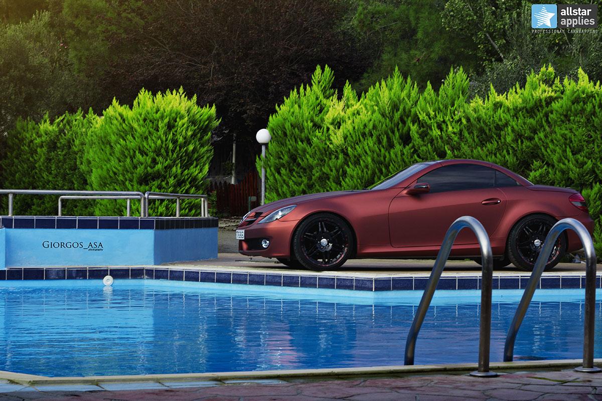 Mercedes SLK - Red Aluminium Matte (5)