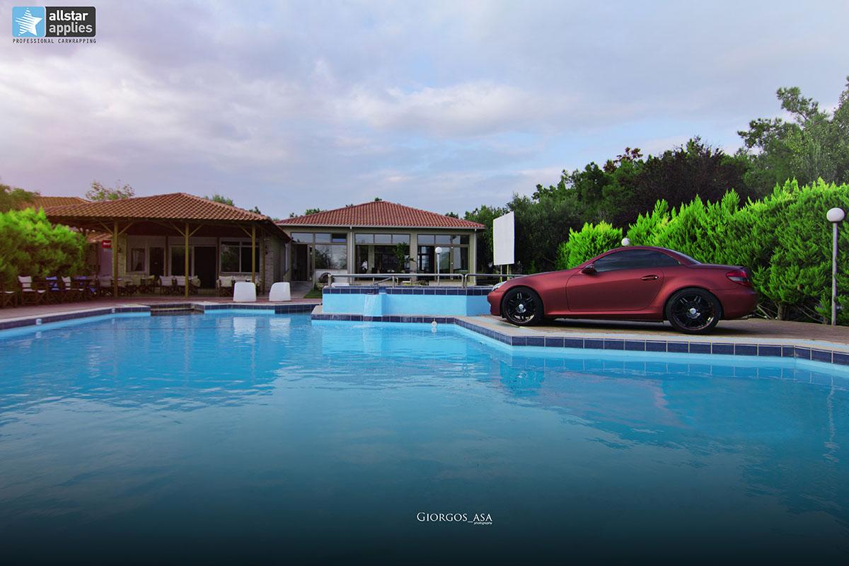 Mercedes SLK - Red Aluminium Matte (6)