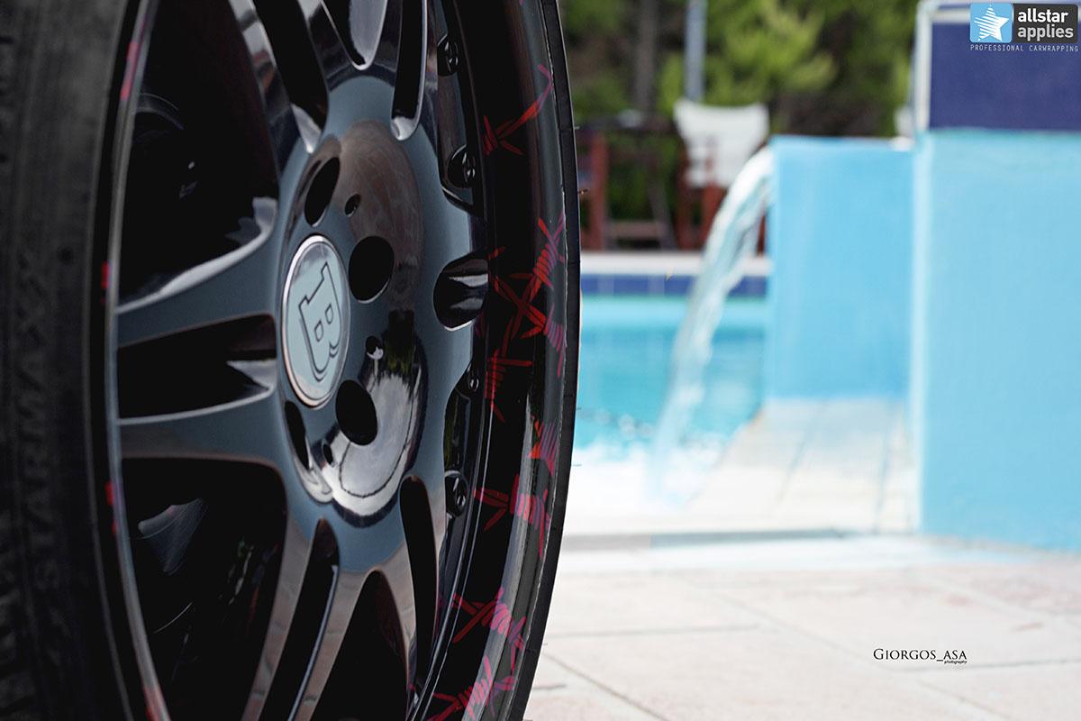 Mercedes SLK - Red Aluminium Matte (7)