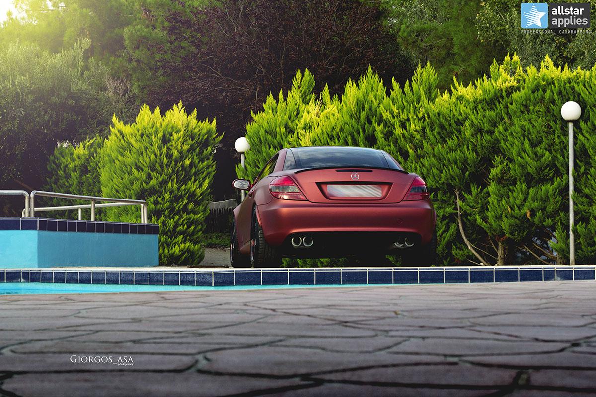 Mercedes SLK - Red Aluminium Matte (8)