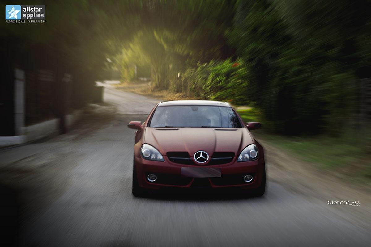 Mercedes SLK - Red Aluminium Matte (9)