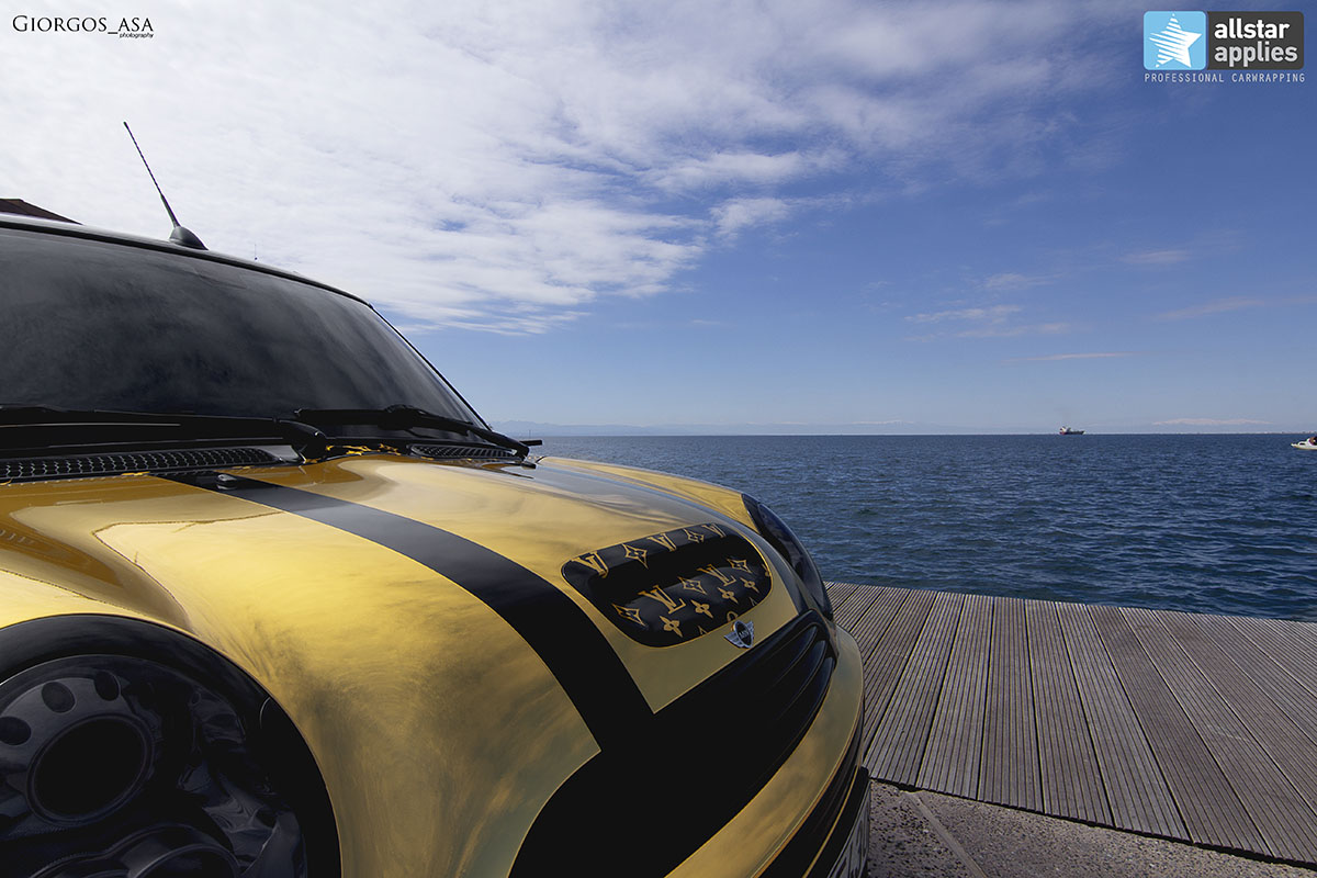 Mini Cooper S - Gold Chrome (2)