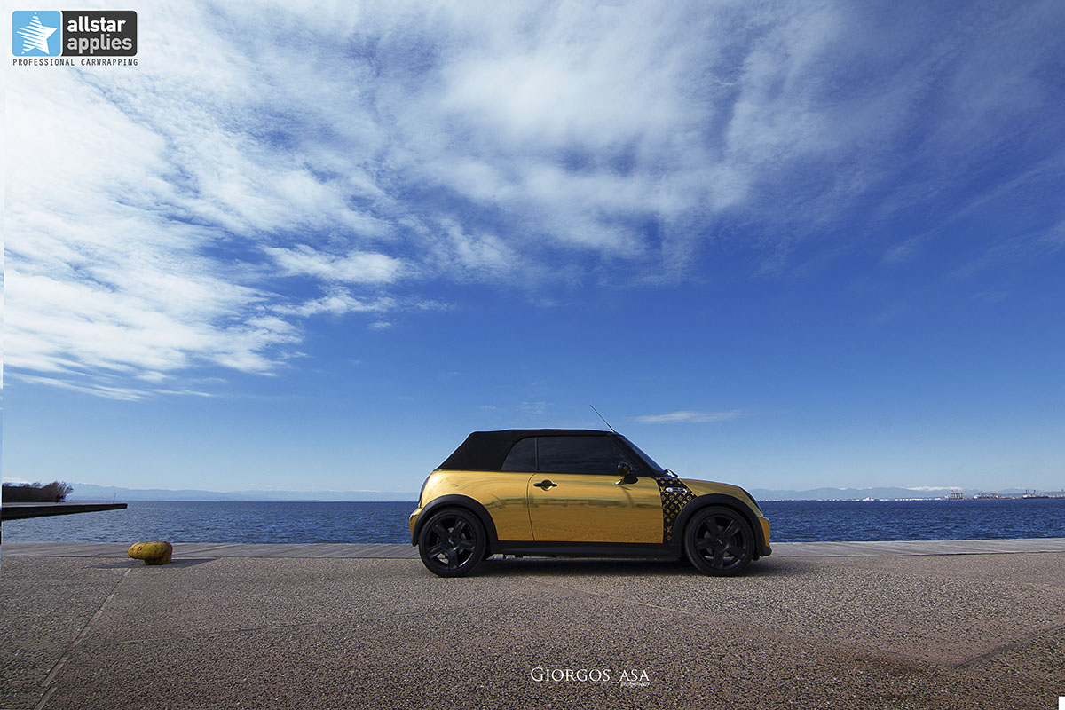 Mini Cooper S - Gold Chrome (3)