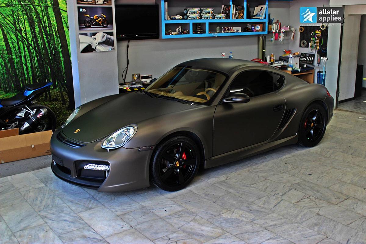 Porsche Cayman – Charcoal Matte Metallic (1)