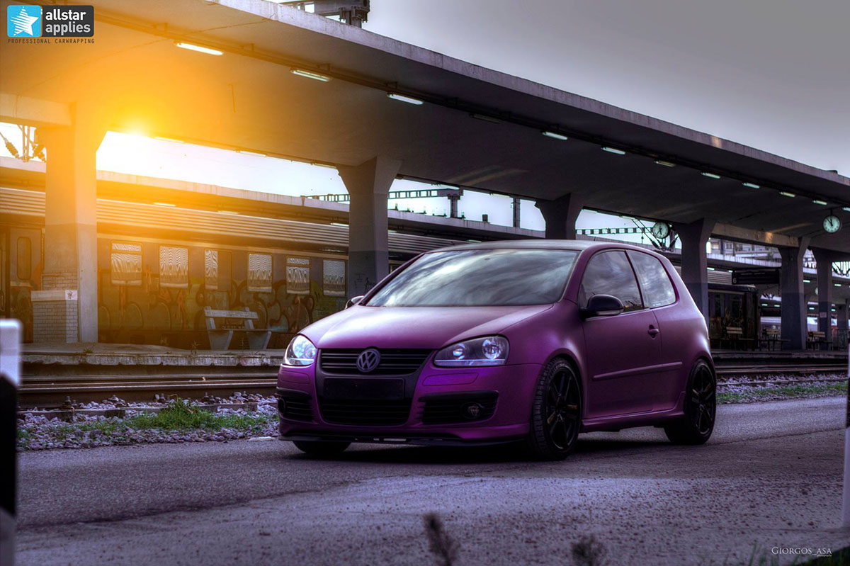 VW Golf – Matte Purple Metallic (1)