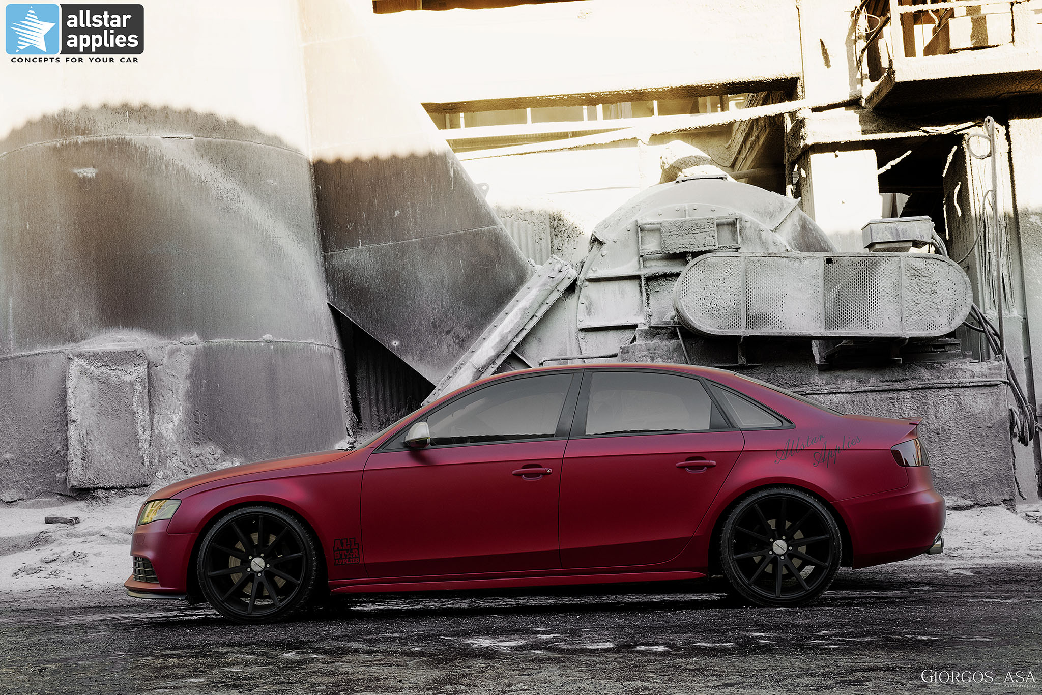 Audi A4 - Cherry Red Chrome (10)