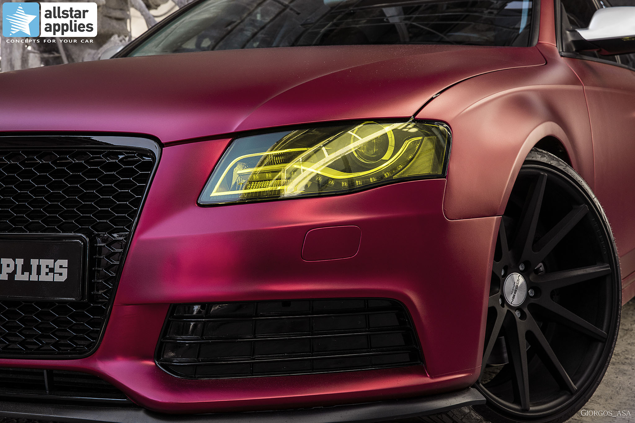 Audi A4 - Cherry Red Chrome (4)