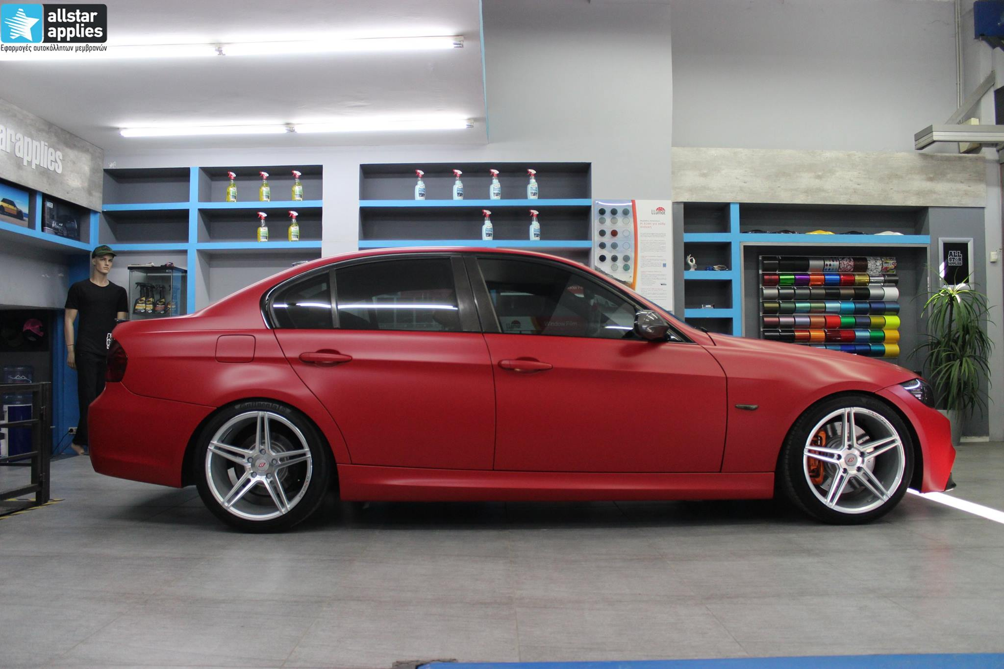 BMW E90 M-Pack - Satin Imperial Red (11)