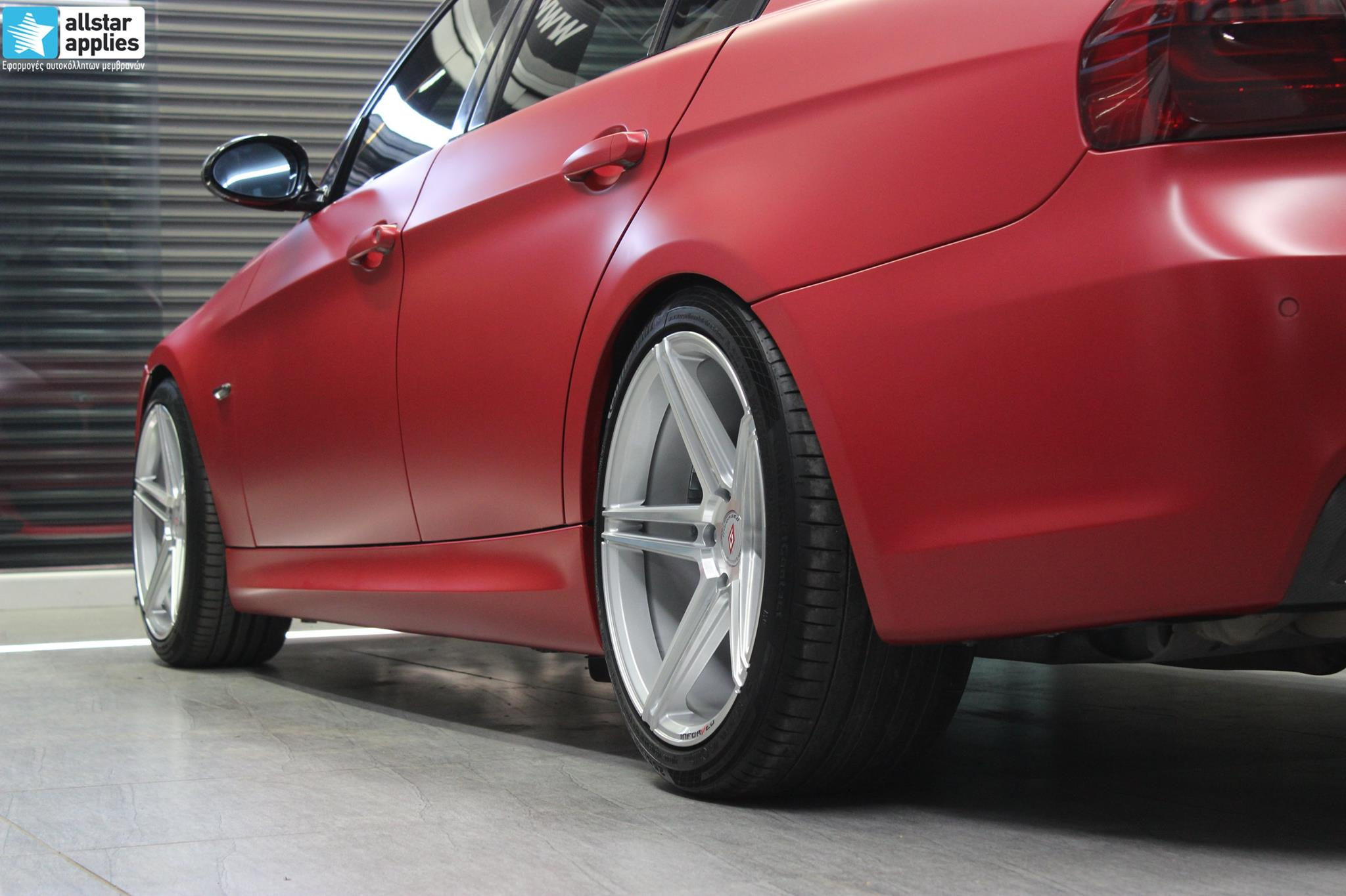 BMW E90 M-Pack - Satin Imperial Red (12)