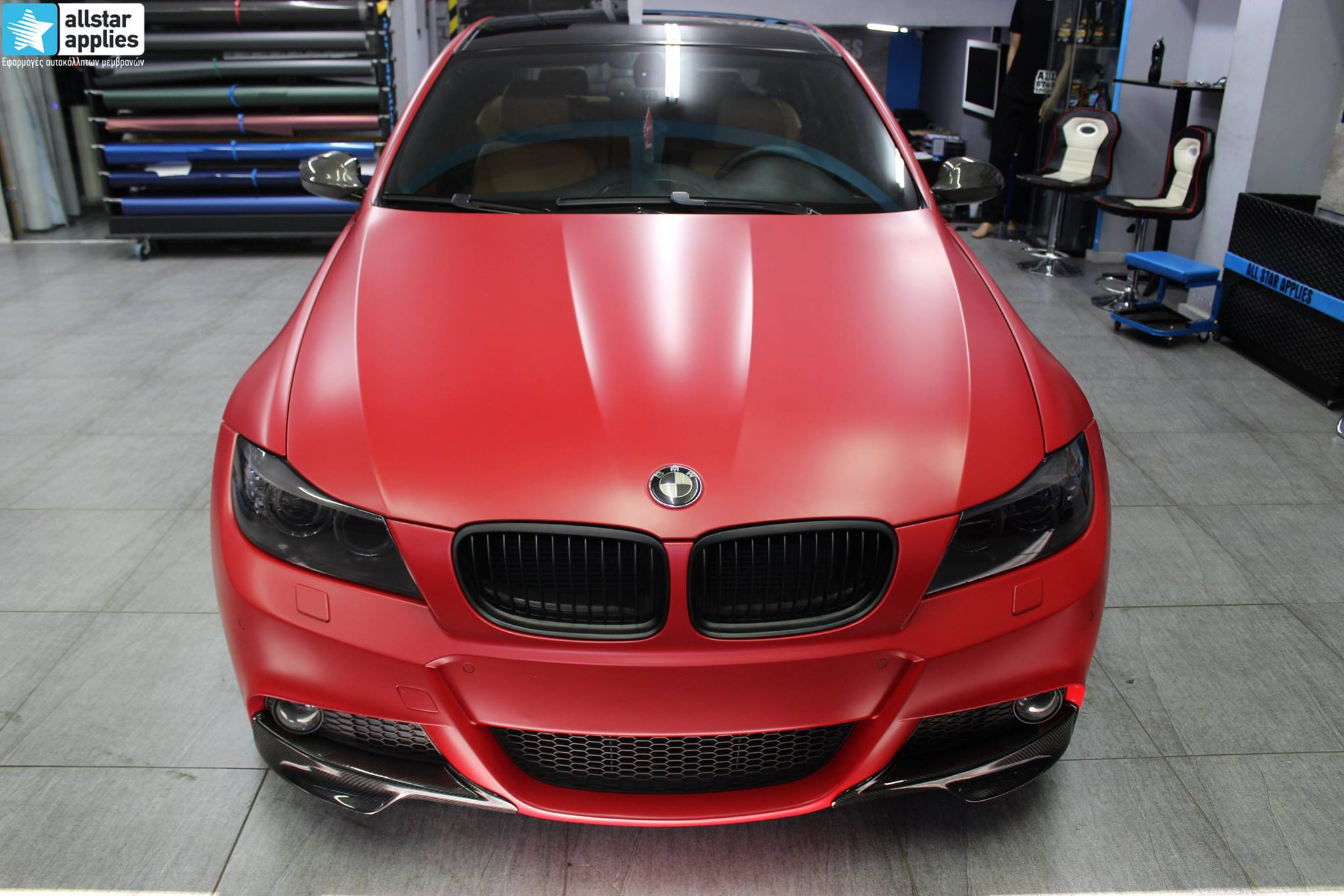 BMW E90 M-Pack - Satin Imperial Red (2)