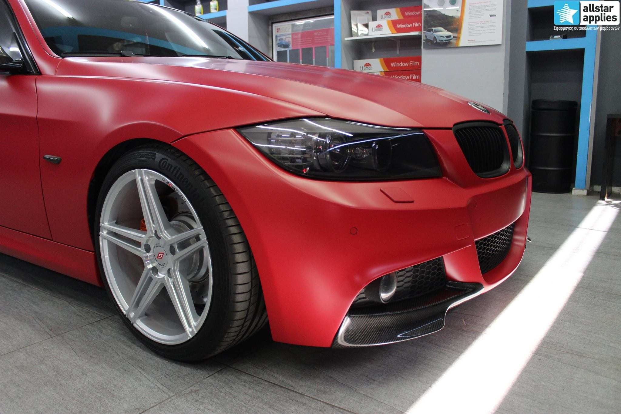 BMW E90 M-Pack - Satin Imperial Red (3)