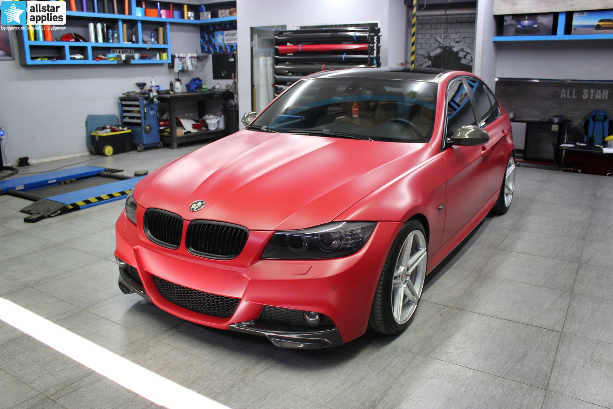 BMW E90 M-Pack - Satin Imperial Red (4)