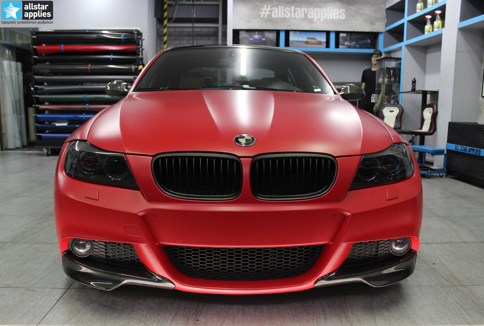 BMW E90 M-Pack - Satin Imperial Red (7)