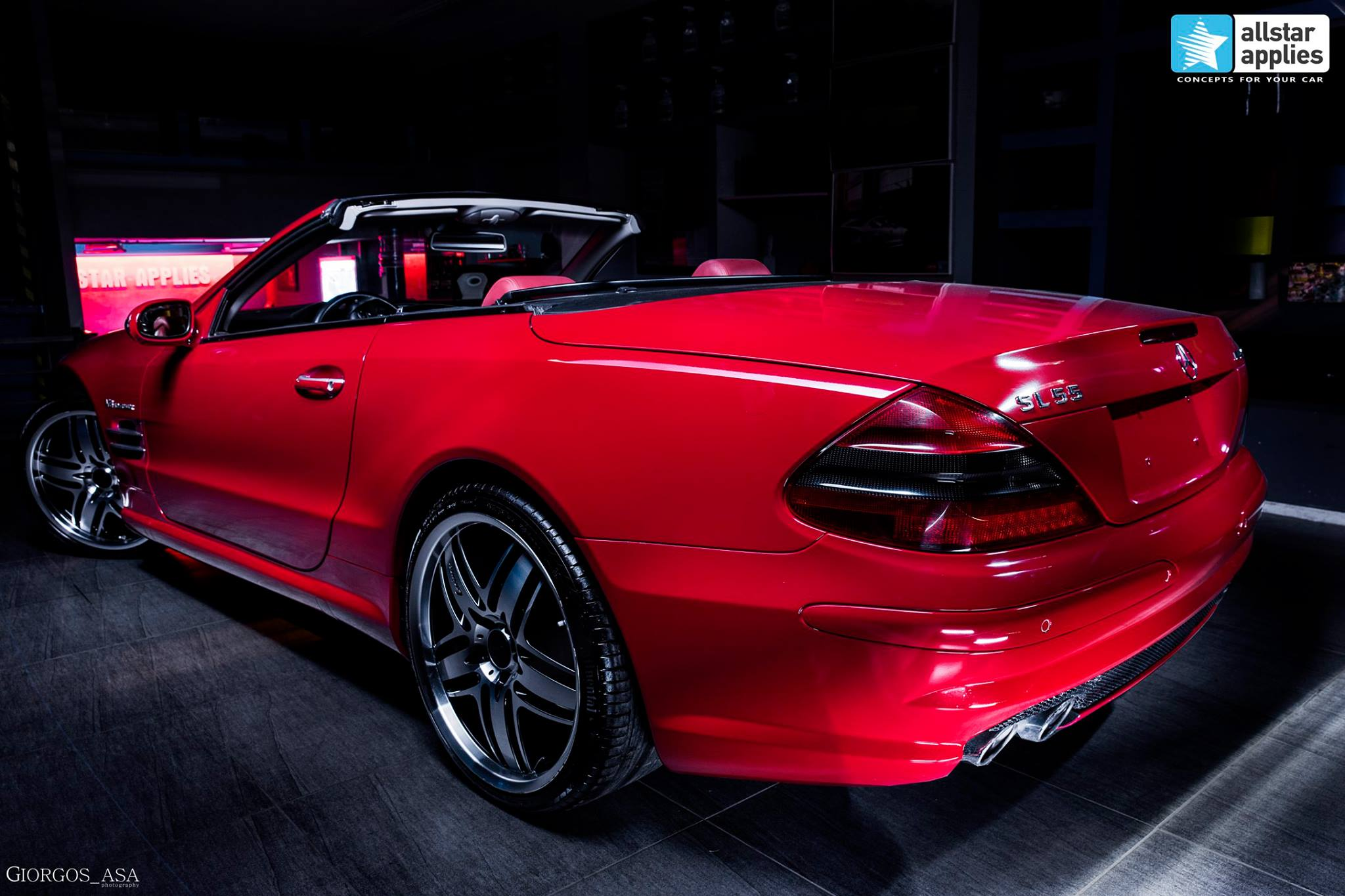 Mercedes SL55 AMG - Red Dark Metallic (1)