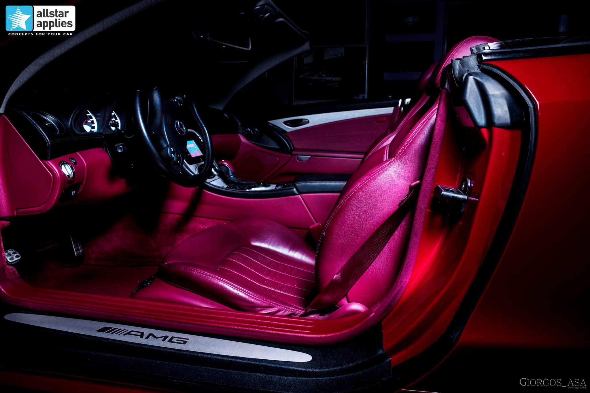 Mercedes SL55 AMG - Red Dark Metallic (11)