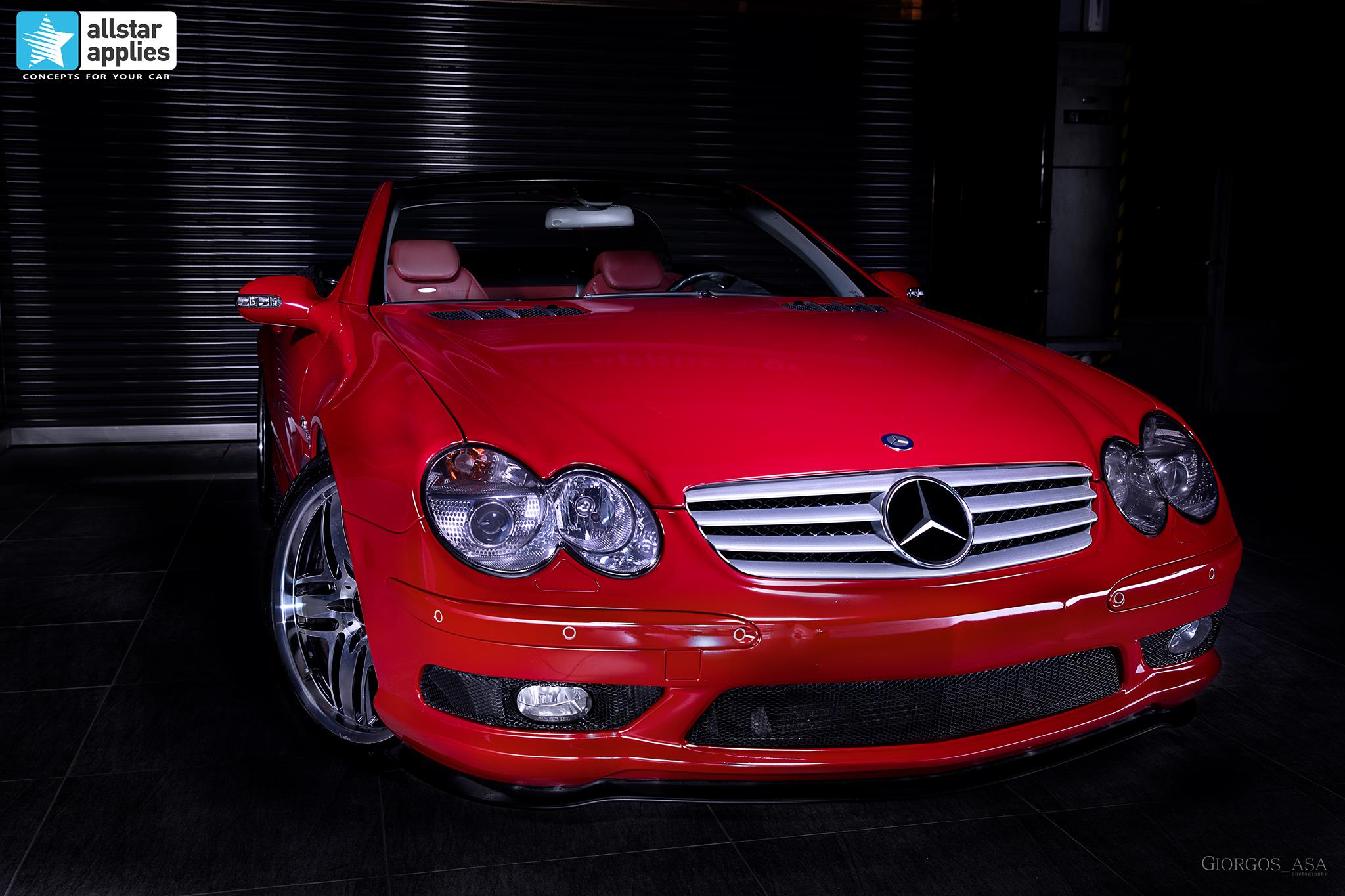 Mercedes SL55 AMG - Red Dark Metallic (2)