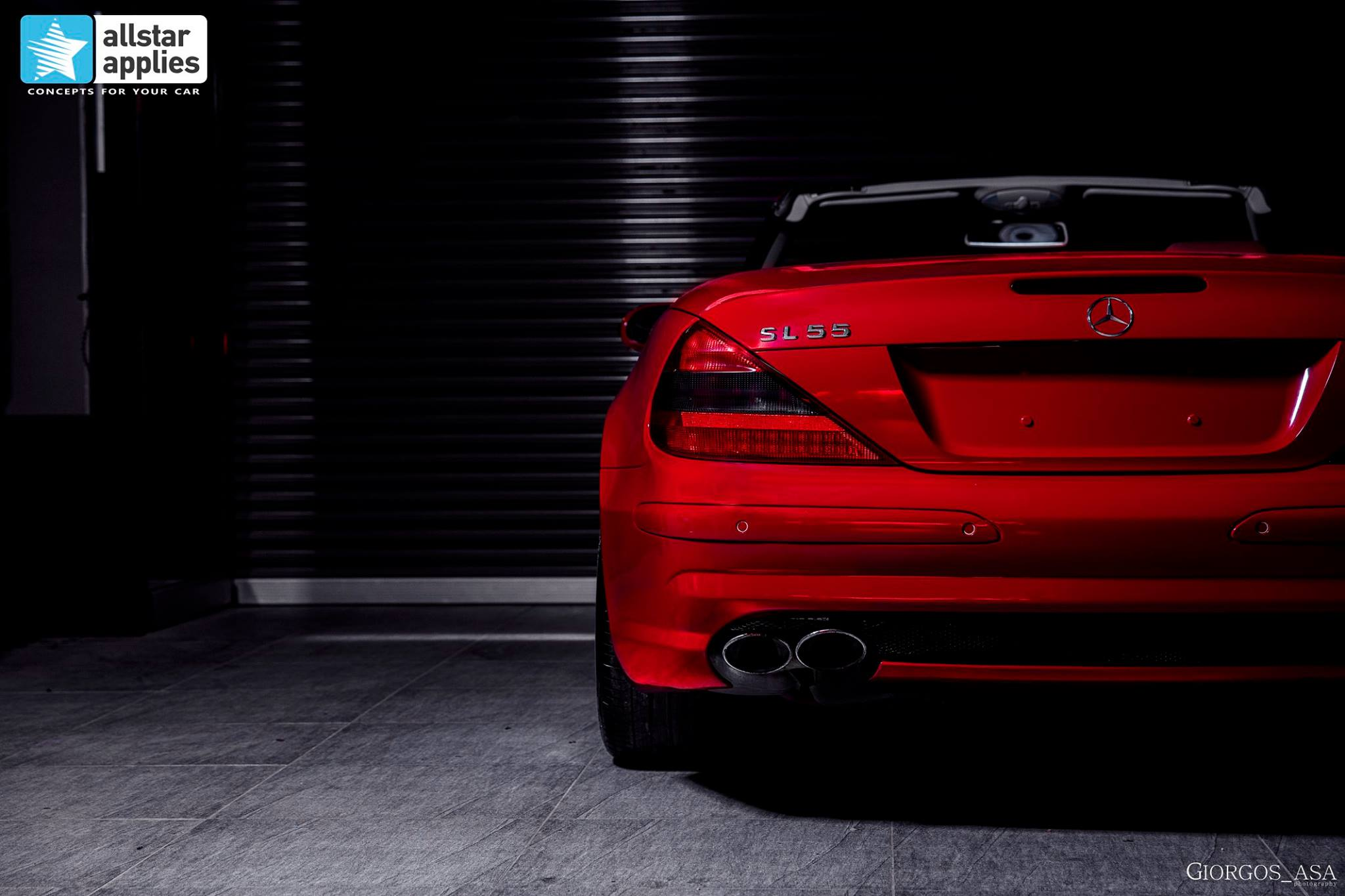 Mercedes SL55 AMG - Red Dark Metallic (4)