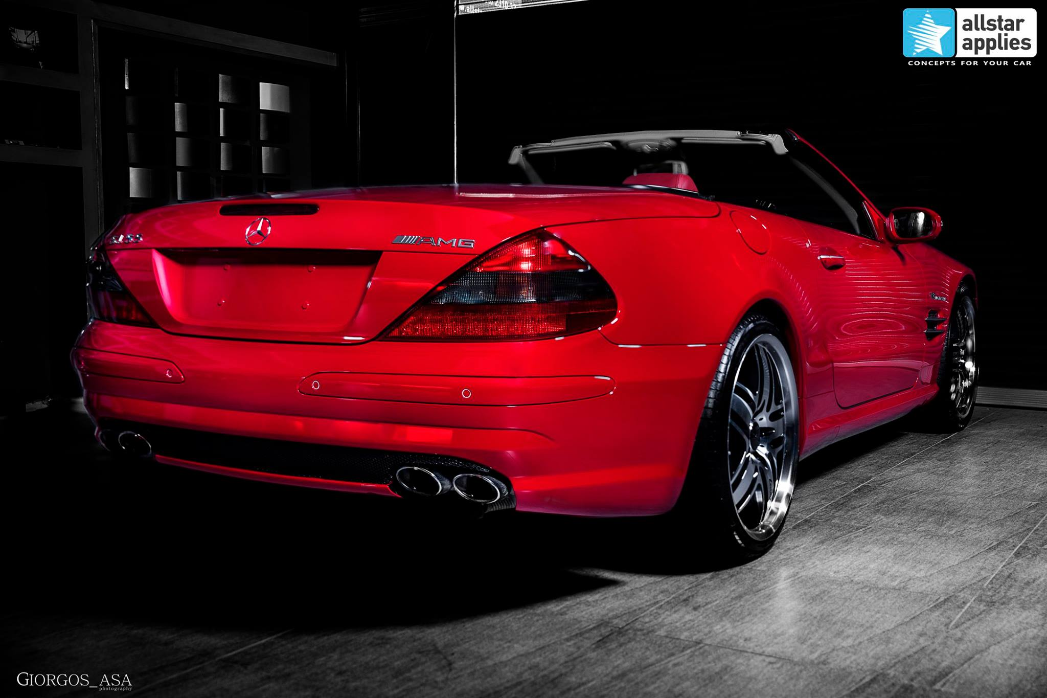 Mercedes SL55 AMG - Red Dark Metallic (5)