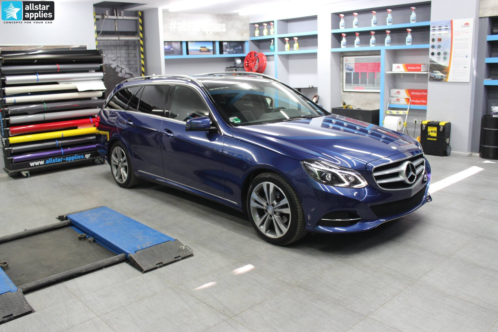 Mercedes W212 Avant - Taxi Blue Metallic (4)