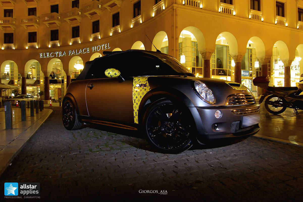 Mini Cooper S - Dark Grey Matte & Louis Vuitton Design (1)