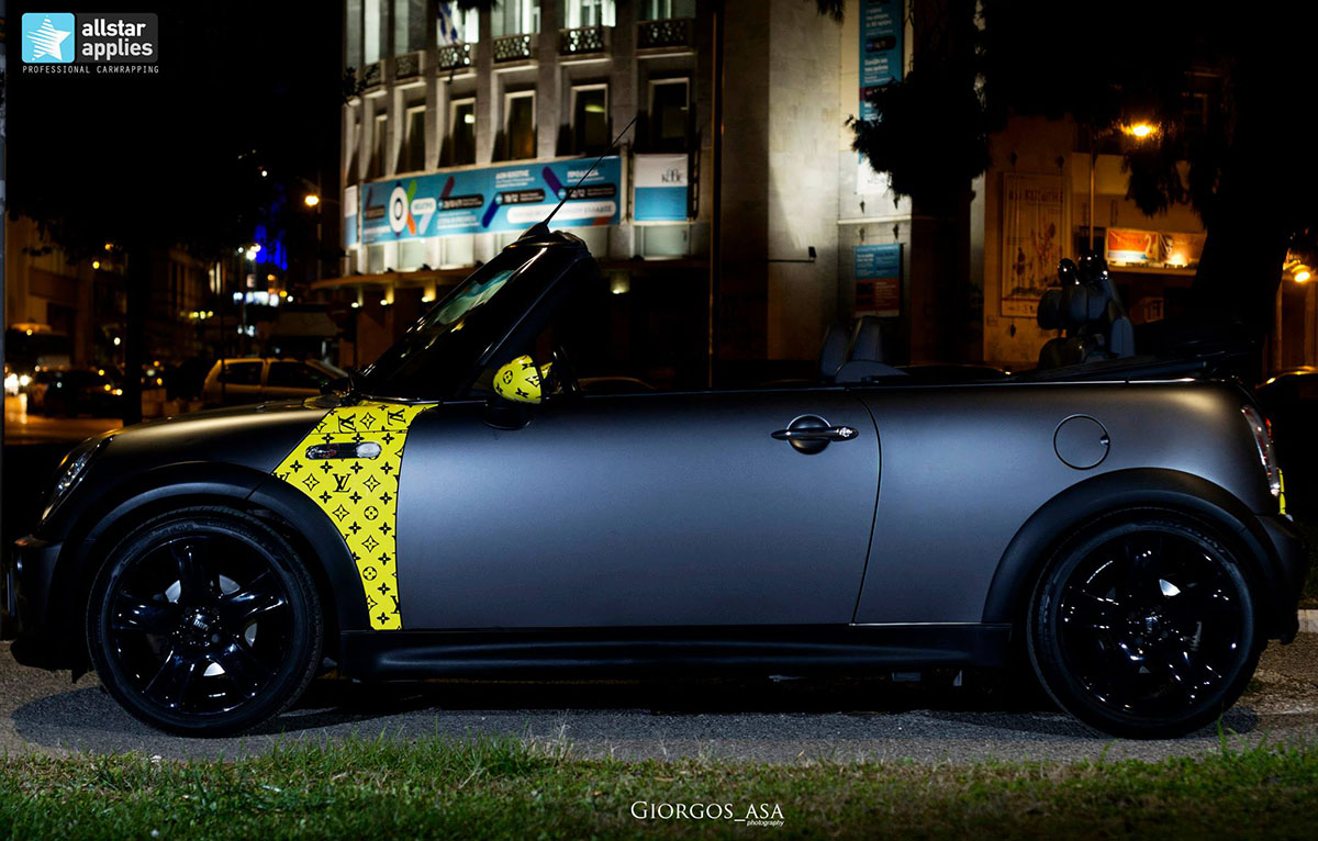 Mini Cooper S - Dark Grey Matte & Louis Vuitton Design (3)