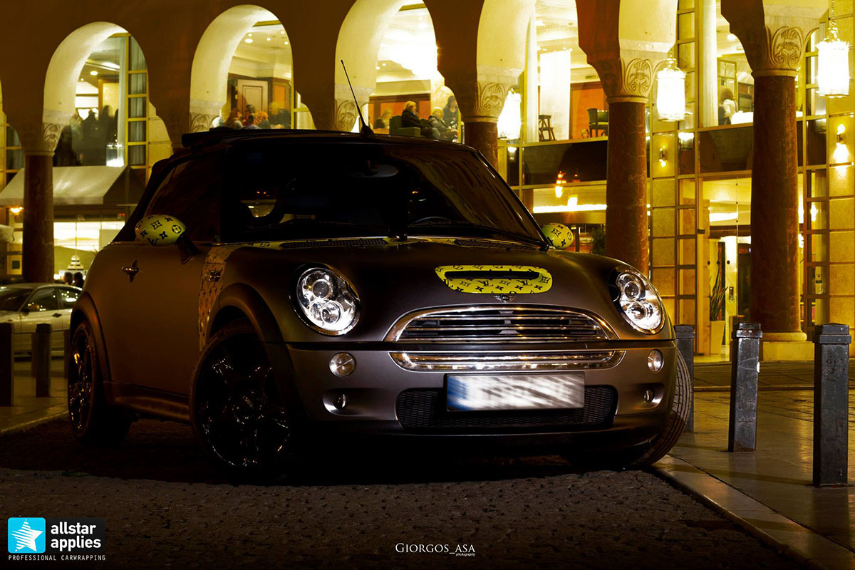 Mini Cooper S - Dark Grey Matte & Louis Vuitton Design (4)