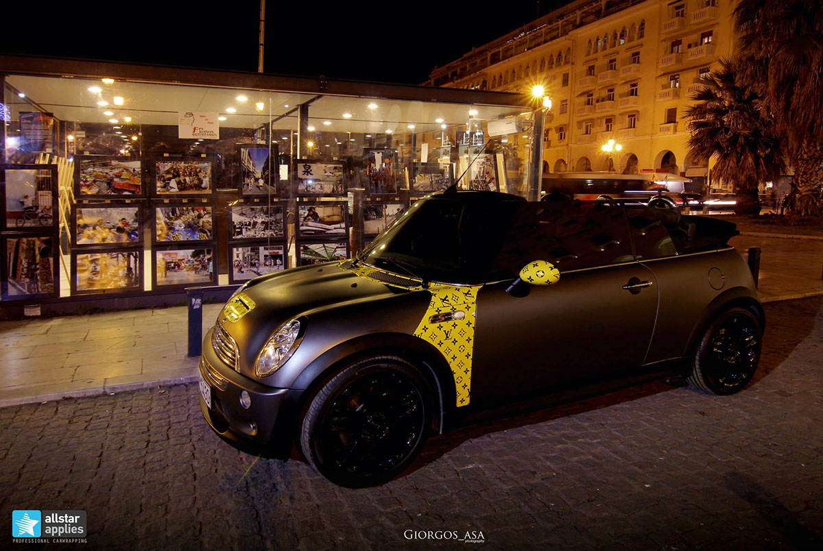 Mini Cooper S - Dark Grey Matte & Louis Vuitton Design (5)