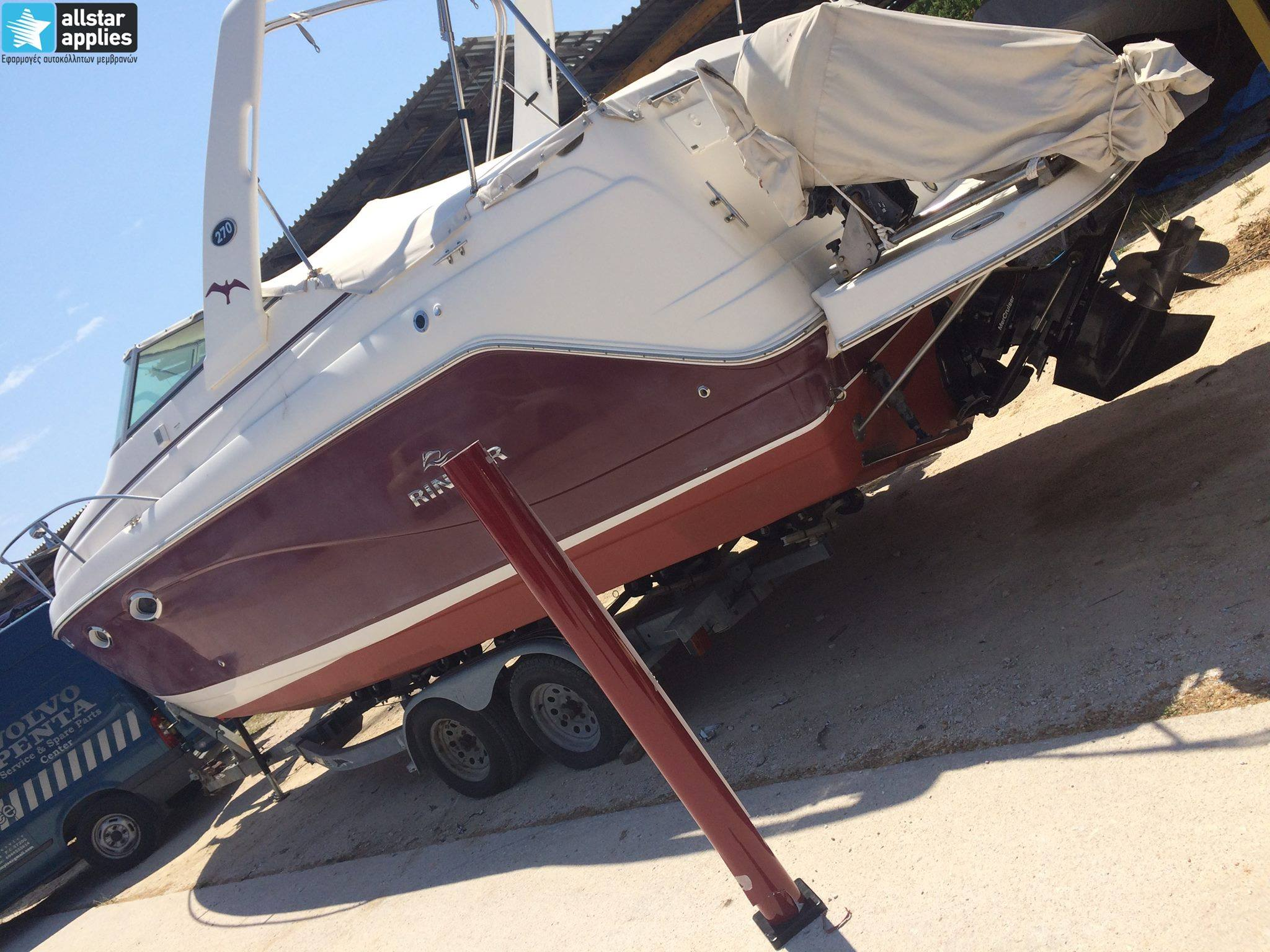Rinker-Boat-32ft-Red-Gloss-Burgundy-5