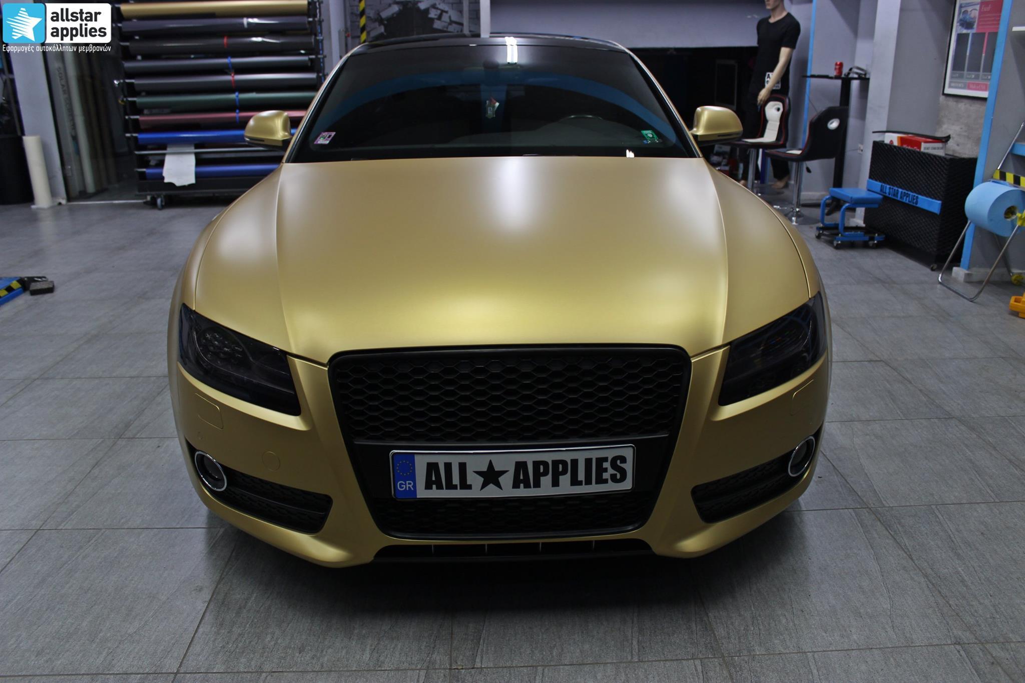 Audi A5 - Satin Gold Matte (1)