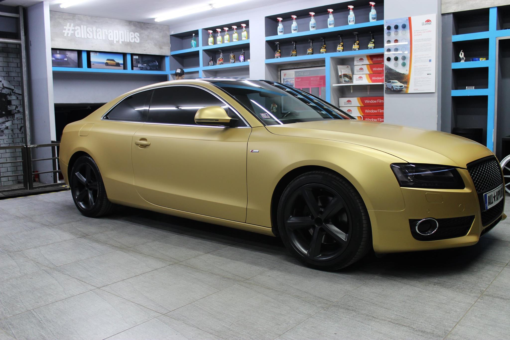 Audi A5 - Satin Gold Matte (2)