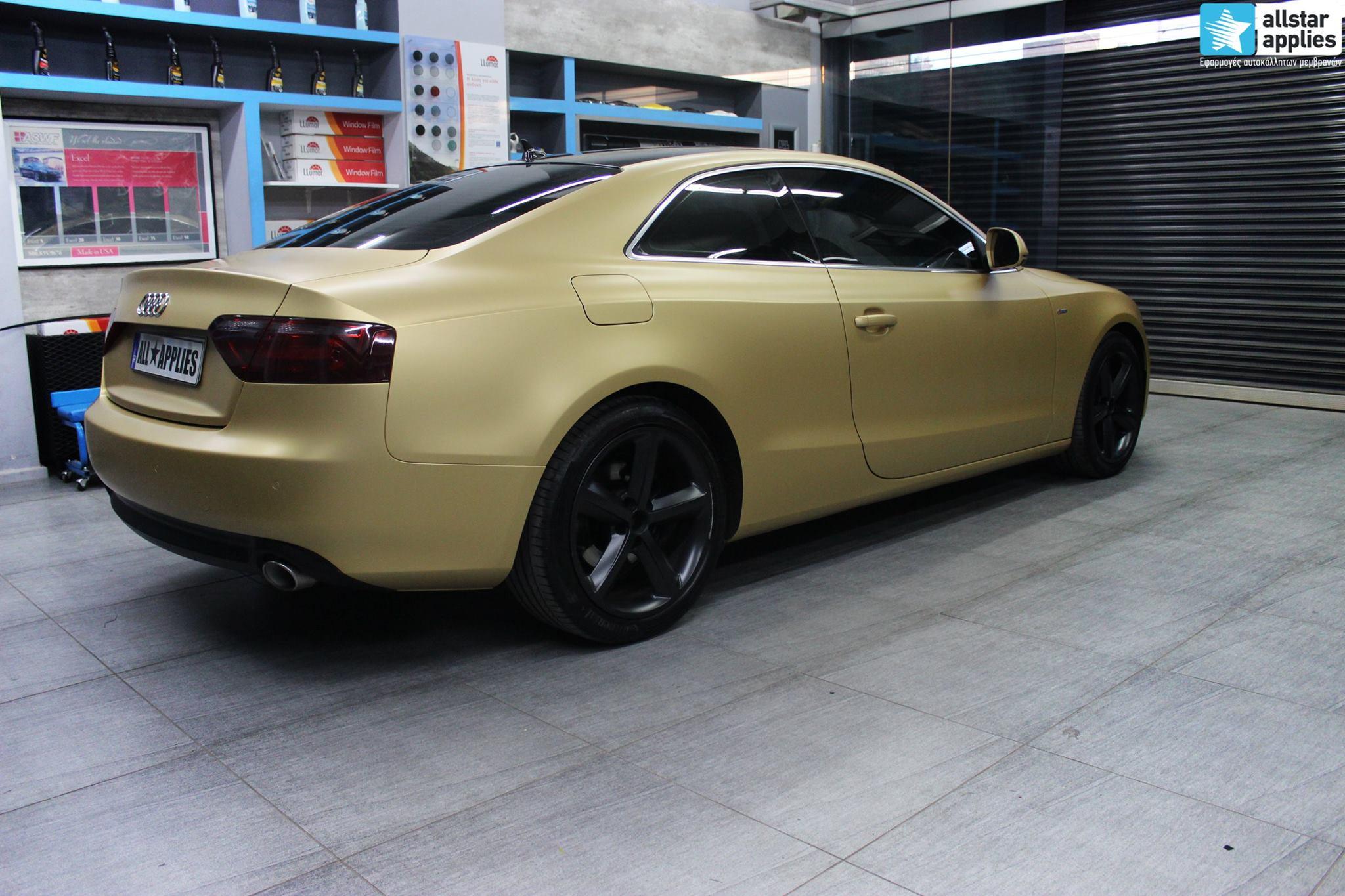 Audi A5 - Satin Gold Matte (3)